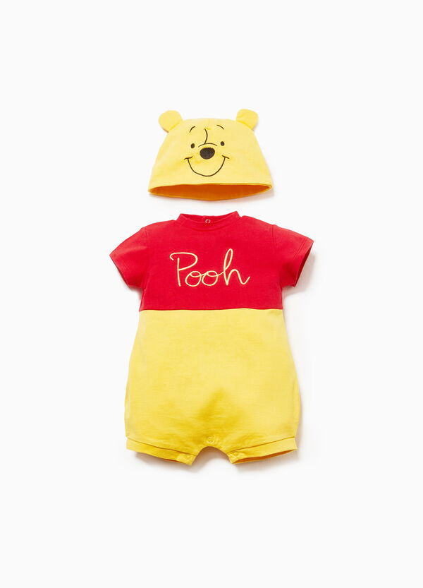 Winnie the Pooh hat and romper set