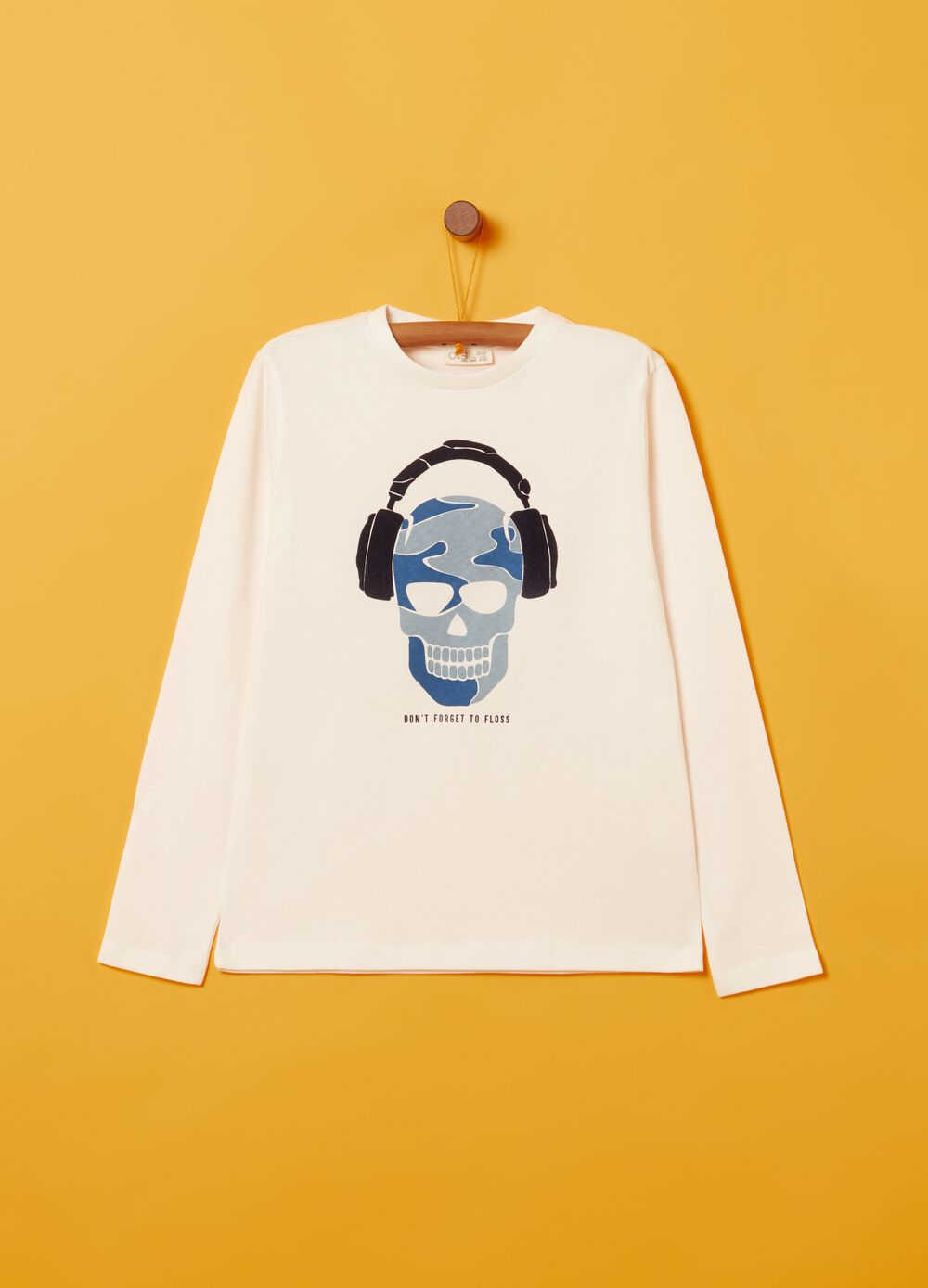 T-shirt in 100% peach-skin cotton with print