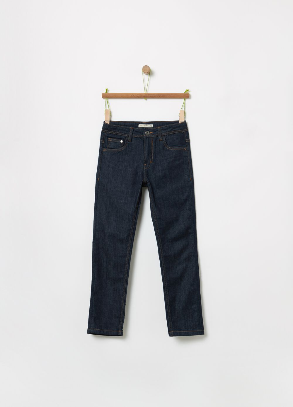Straight-fit stretch jeans