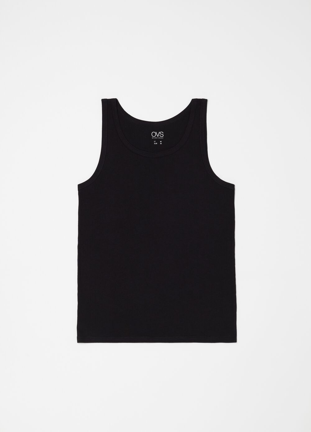 100% cotton racerback top with round neck