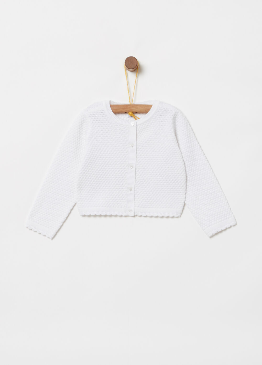 ***Better Cotton Initiative cardigan with scallop edge