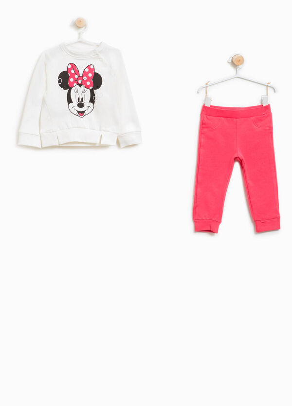 Minnie Mouse glitter tracksuit in stretch cotton | OVS