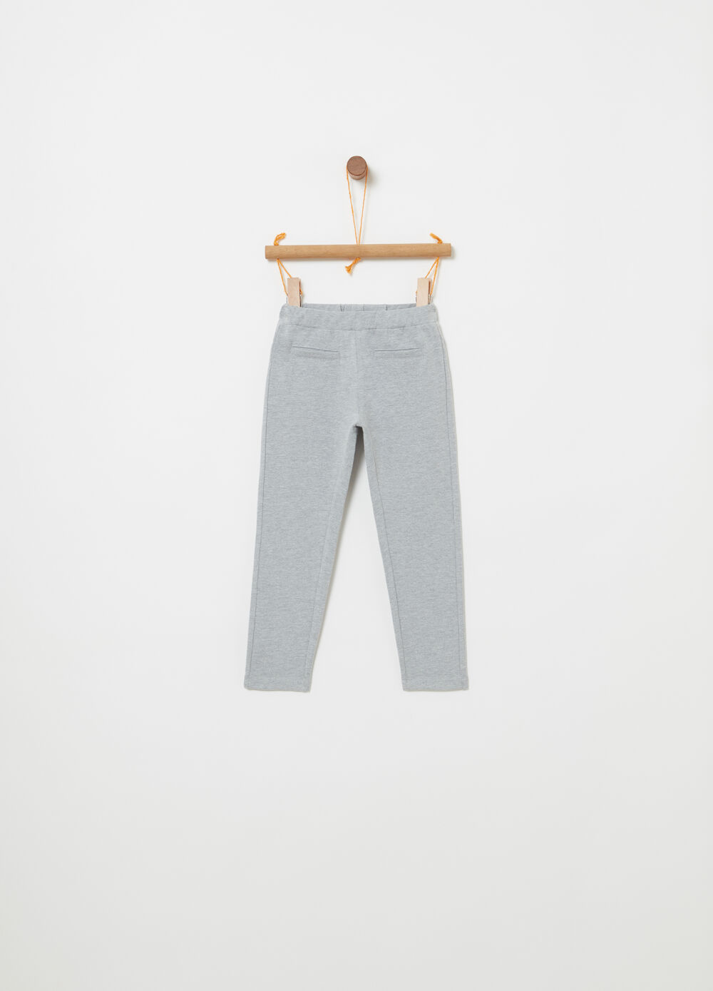 Trousers in non-brushed French Terry fleece