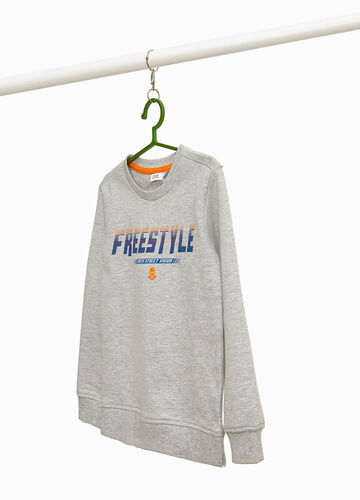 Cotton and viscose sweatshirt with print