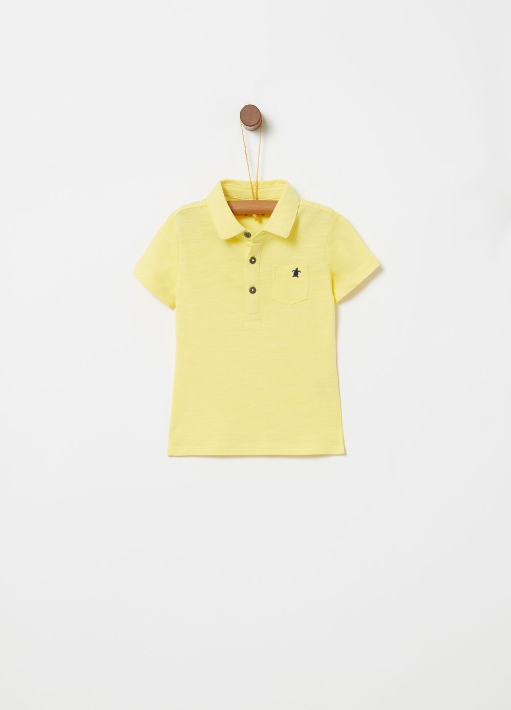 100% cotton polo shirt with pocket