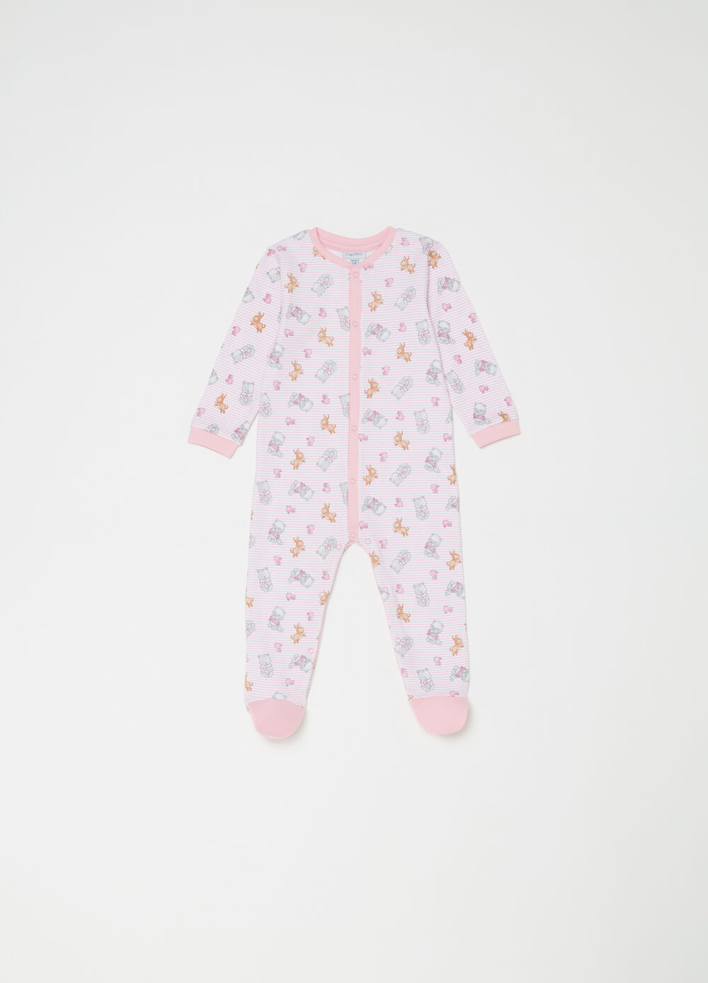 Patterned sleepsuit in 100% cotton