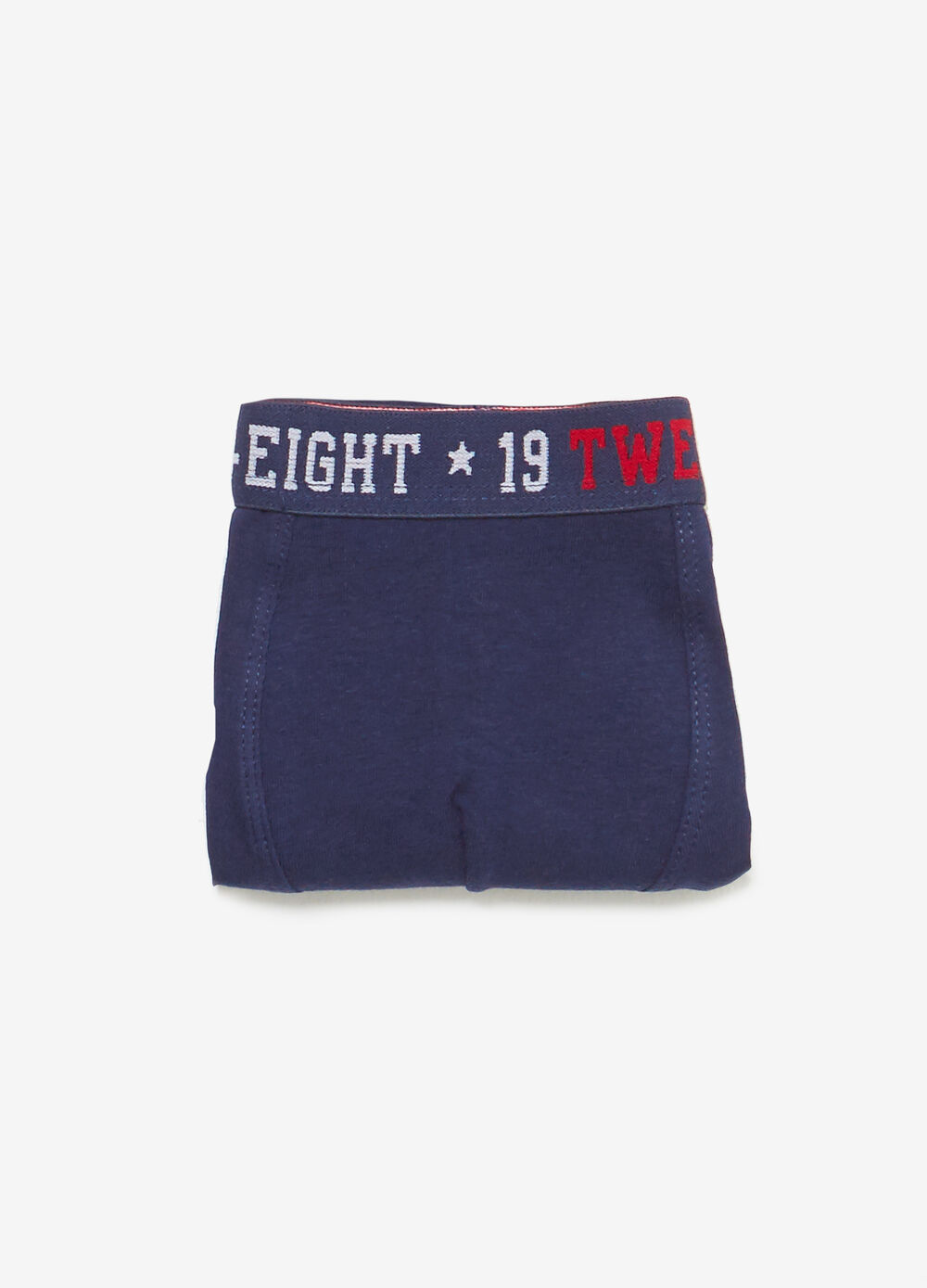 Stretch boxer shorts with lettering print