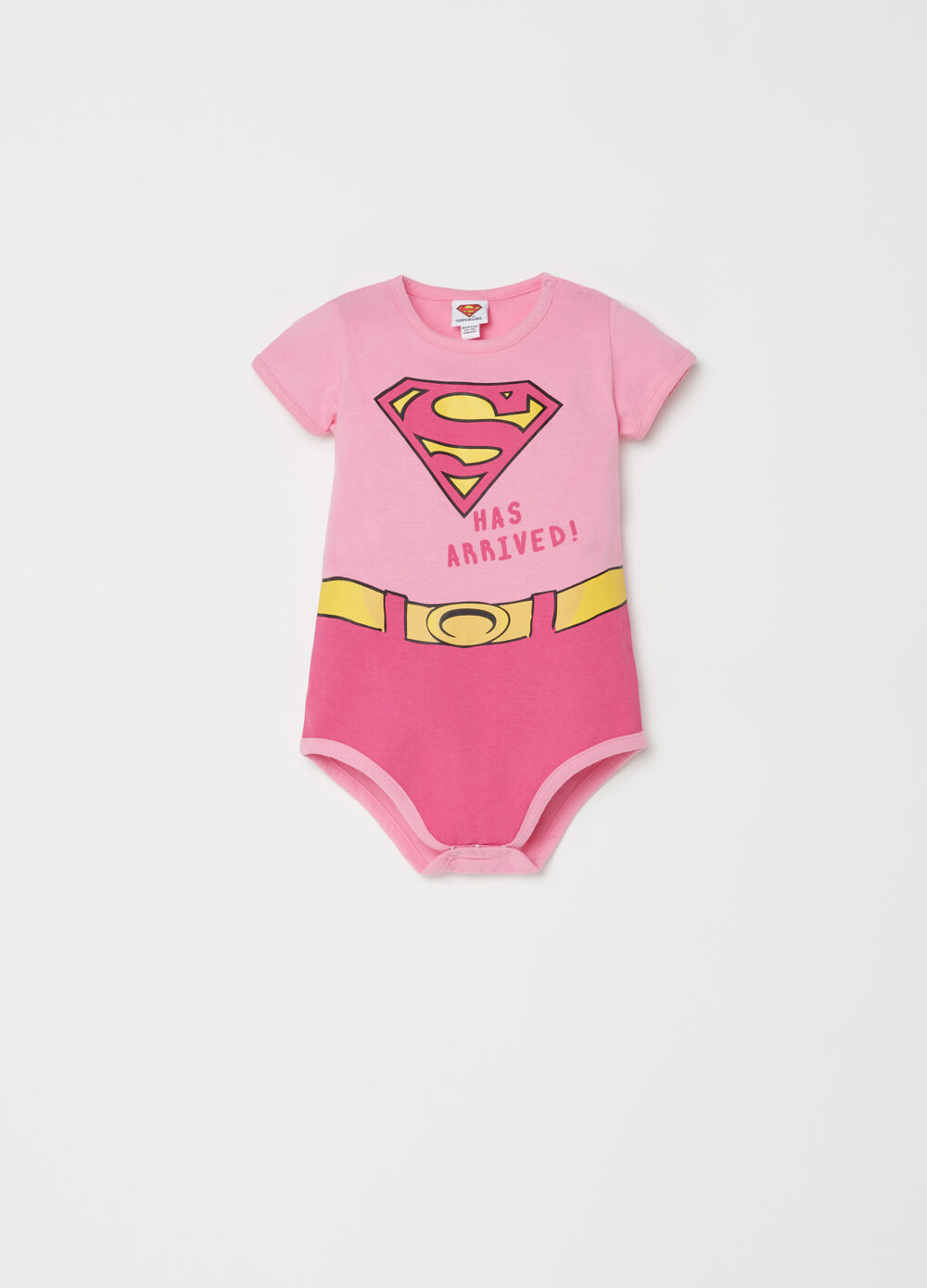 100% cotton bodysuit with Superman pattern