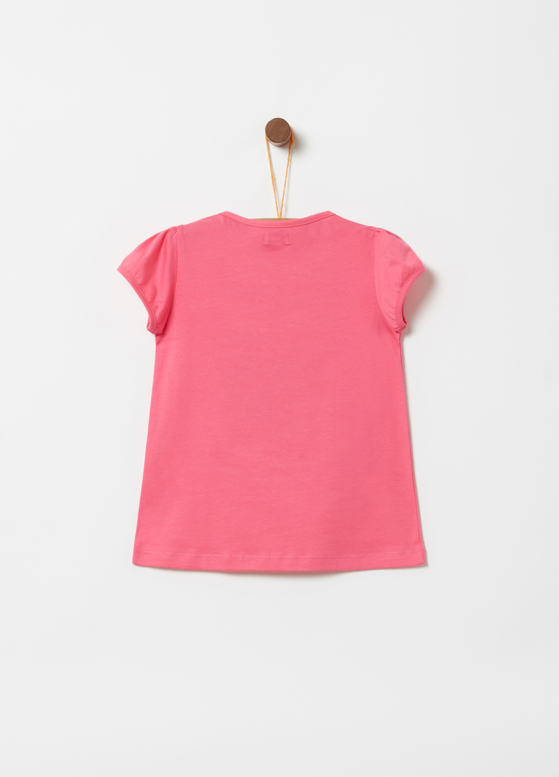 T-shirt with puff sleeves and print image number null