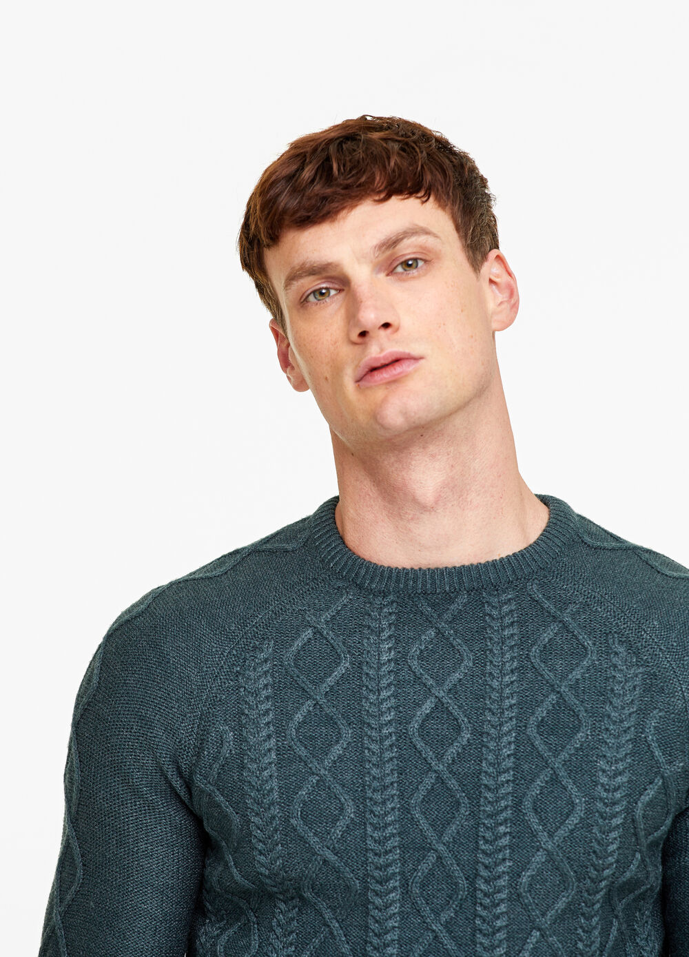 Pullover with knitted motif