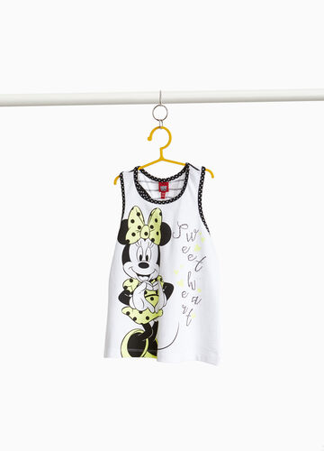 Stretch cotton top with Minnie mouse print