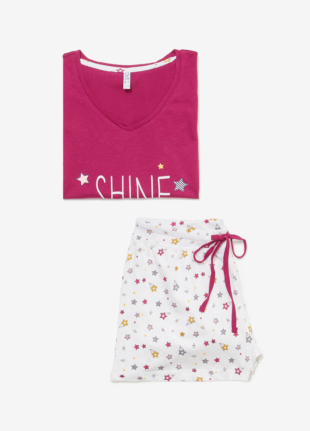 100% cotton pyjamas with glitter print