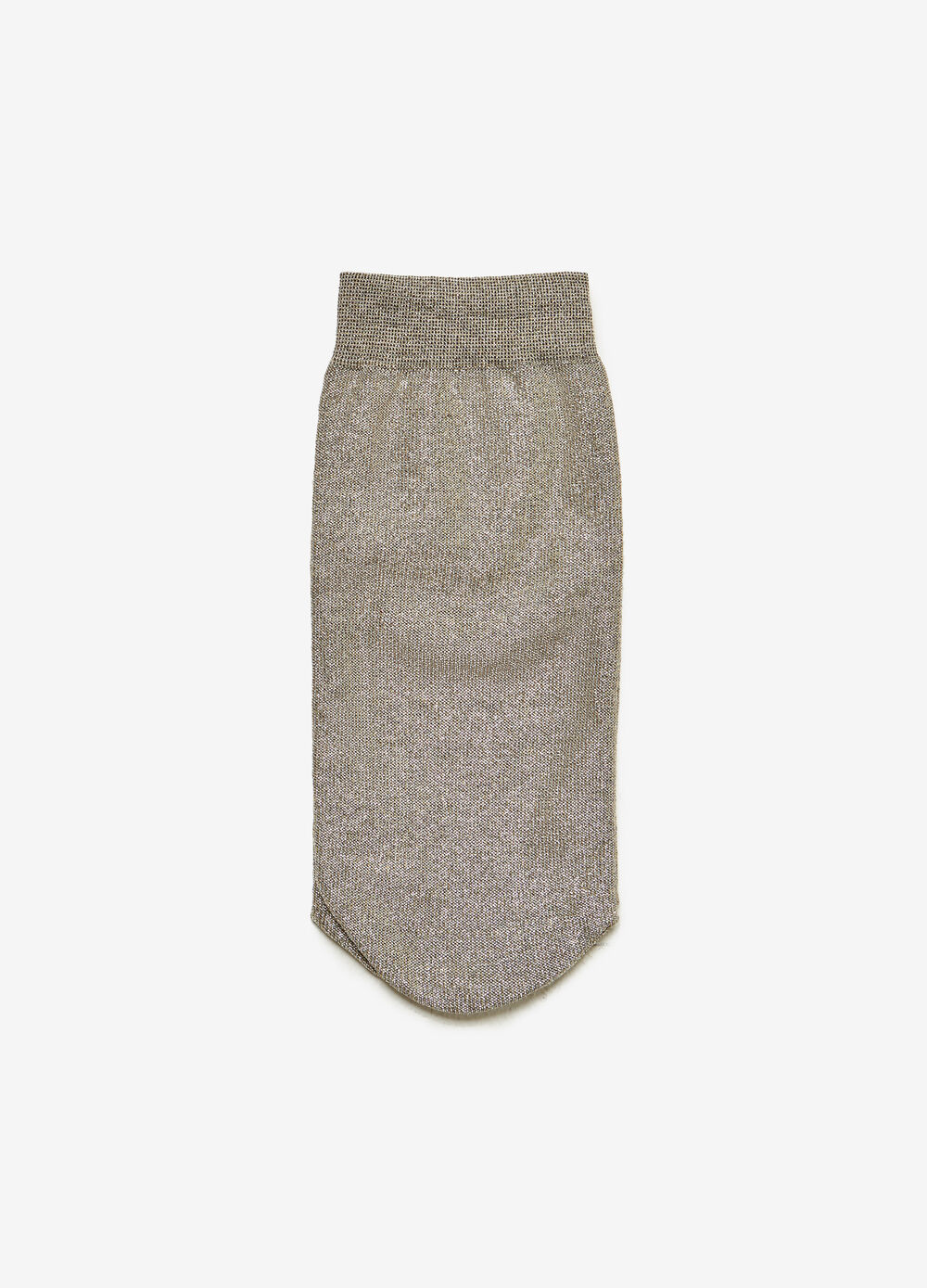 Solid colour short socks with lurex
