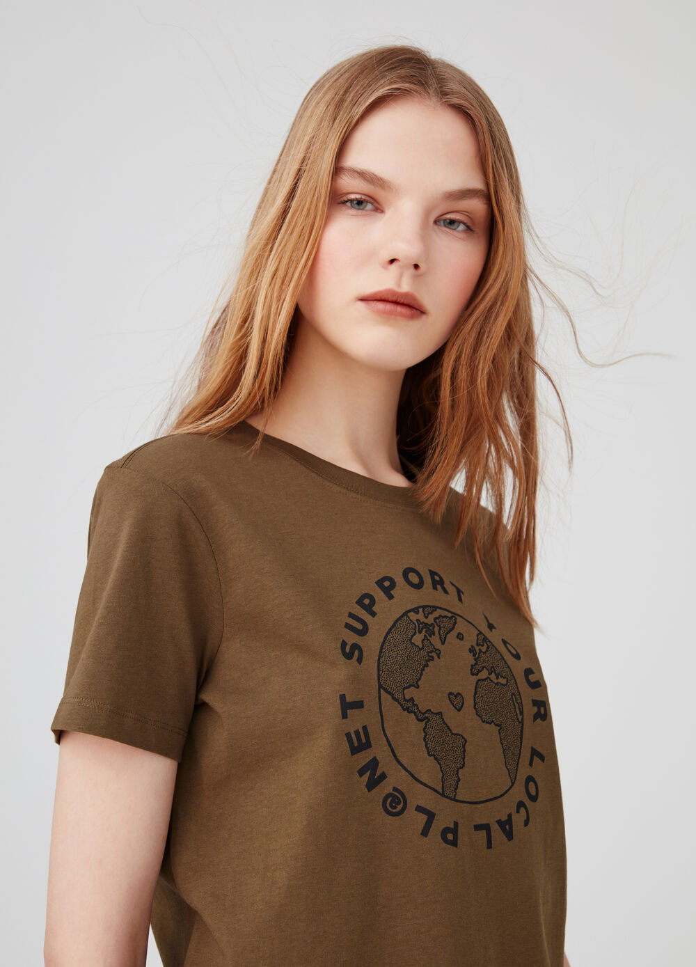 Camiseta biocotton estampado Earth Day