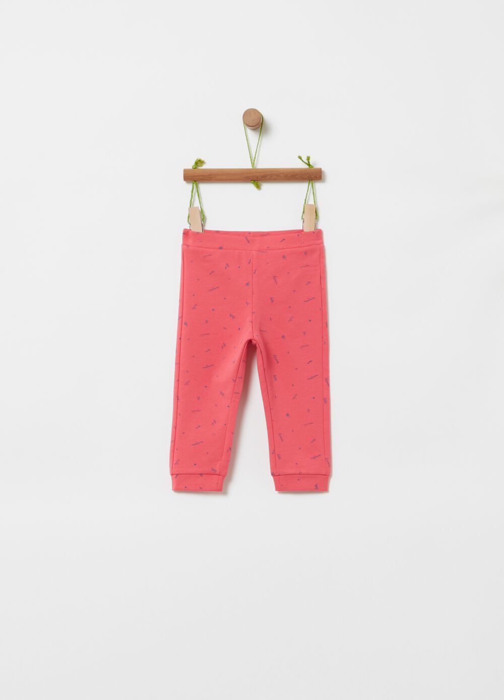 Organic cotton joggers with all-over print
