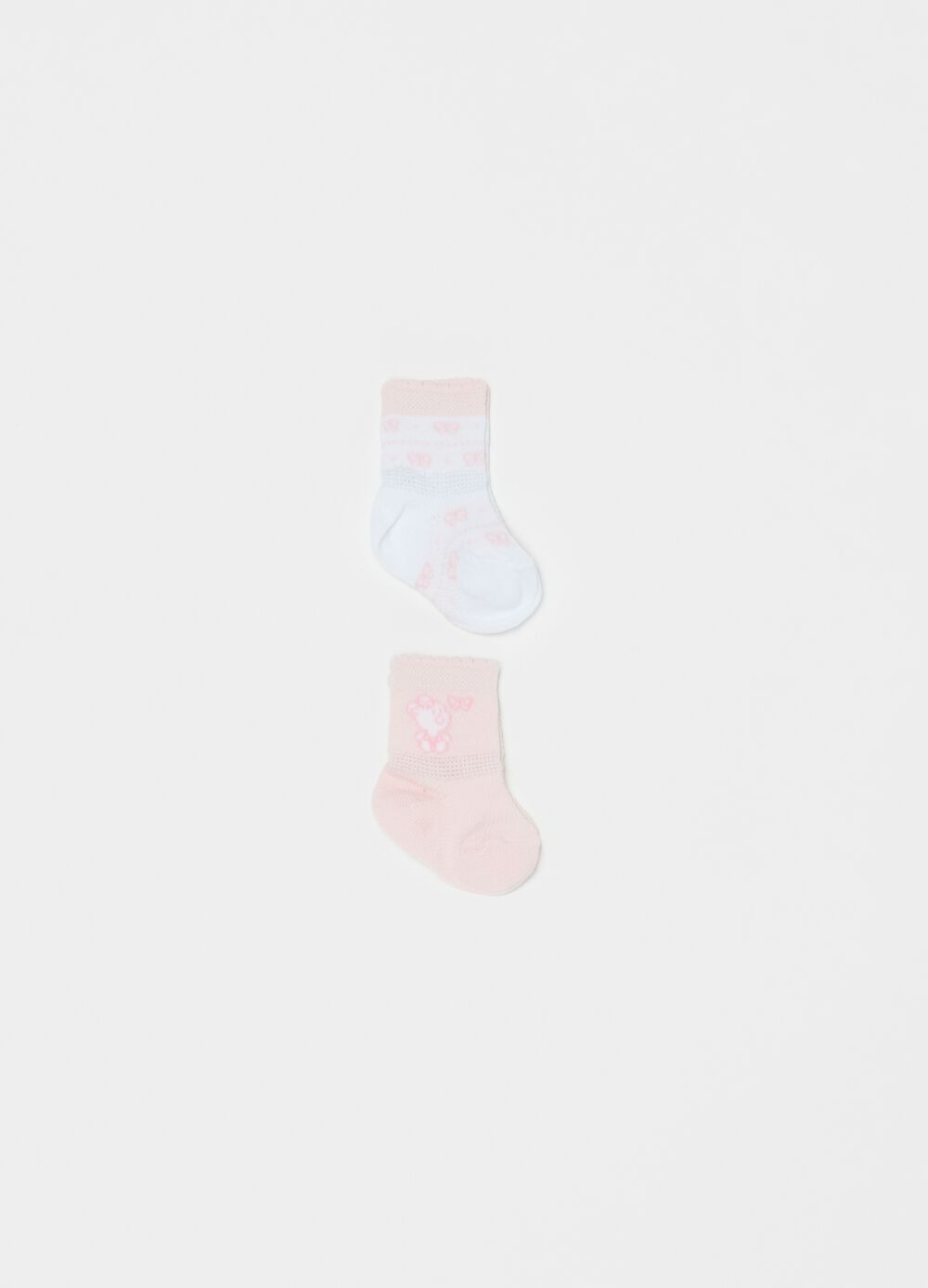 Two-pair pack short stretch cotton socks