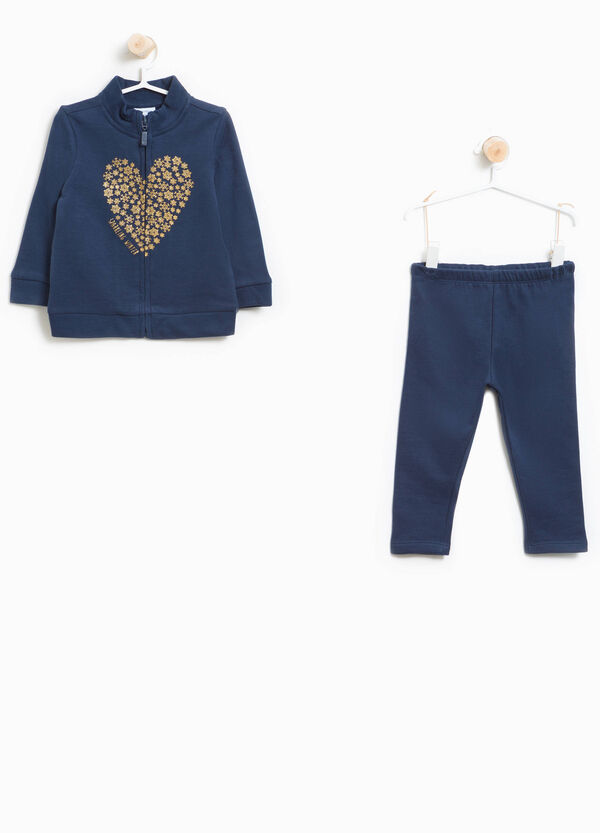 Heart print 100% cotton tracksuit | OVS