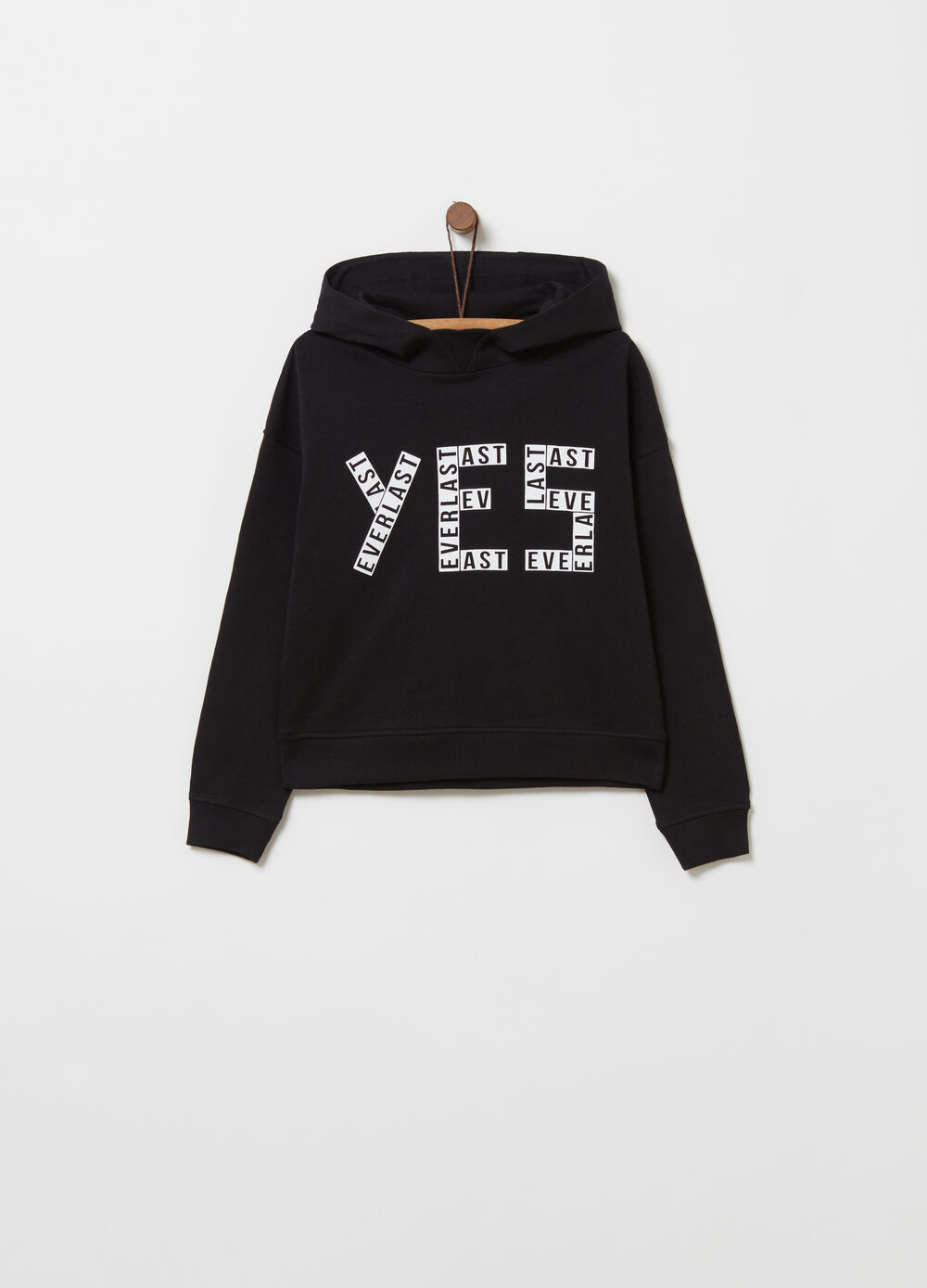 French terry sweatshirt with lettering print