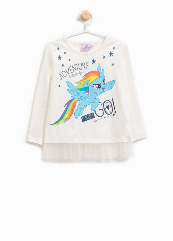 My Little Pony print T-shirt with tulle