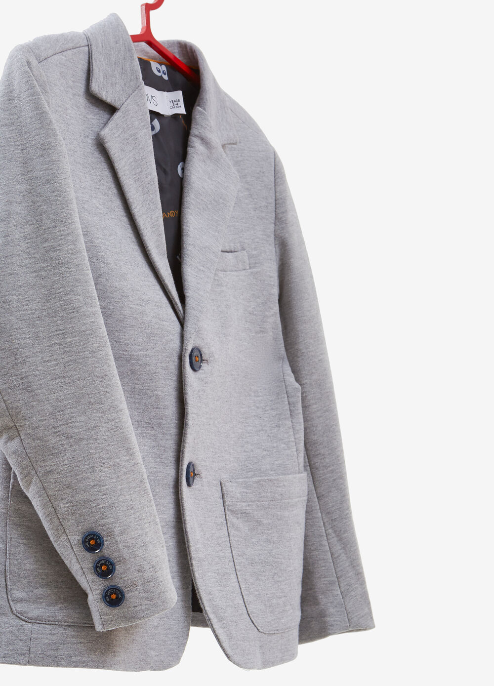 Cotton blend jacket with two buttons