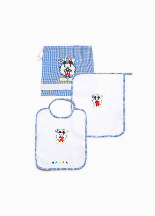 Set asilo in misto cotone patch Mickey Mouse
