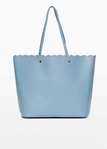 Textured shopping bag with studs