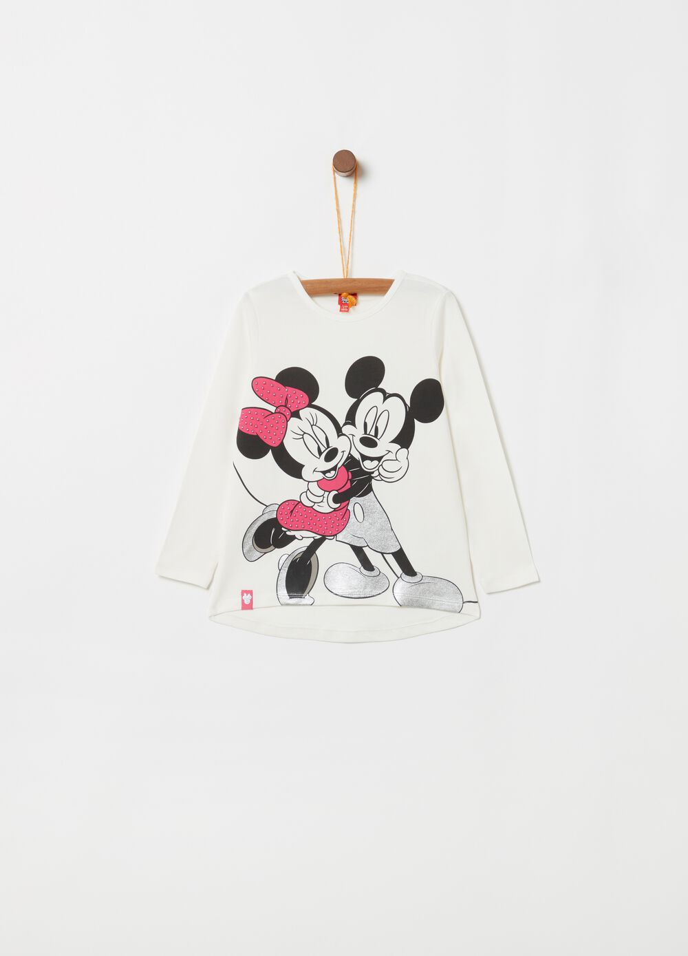 Camiseta estampado Disney Minnie y Mickey