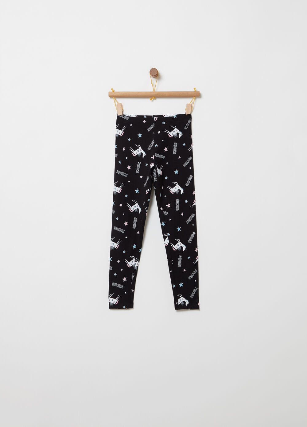 Jersey leggings with all-over print