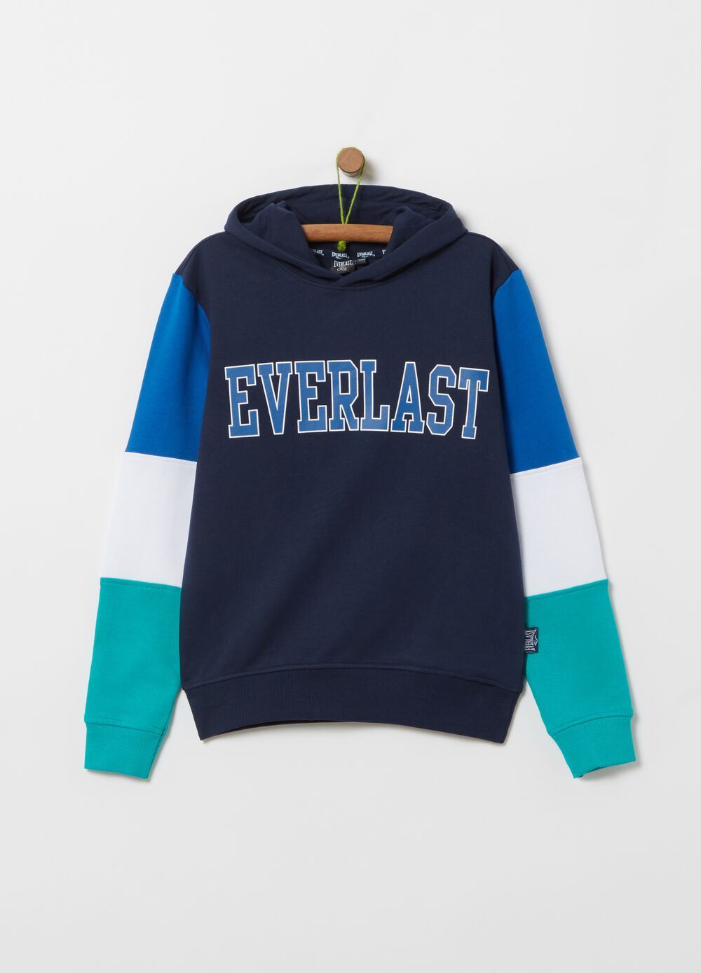 Felpa colorblock stampa Everlast