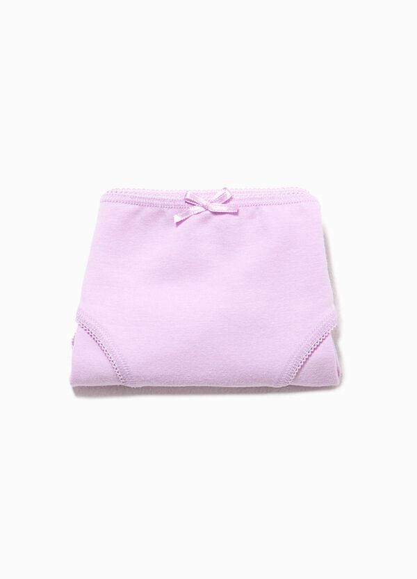 Organic cotton stretch briefs with bow