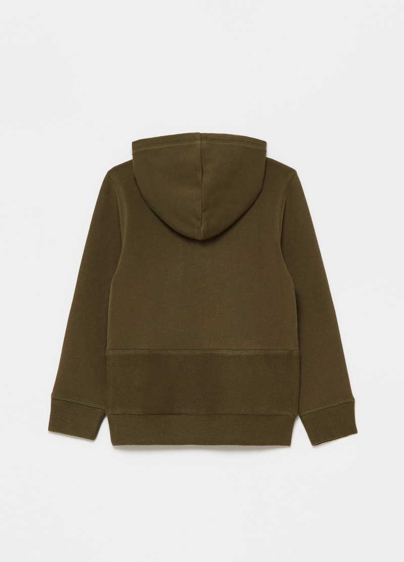Sweatshirt with hood and buttons image number null