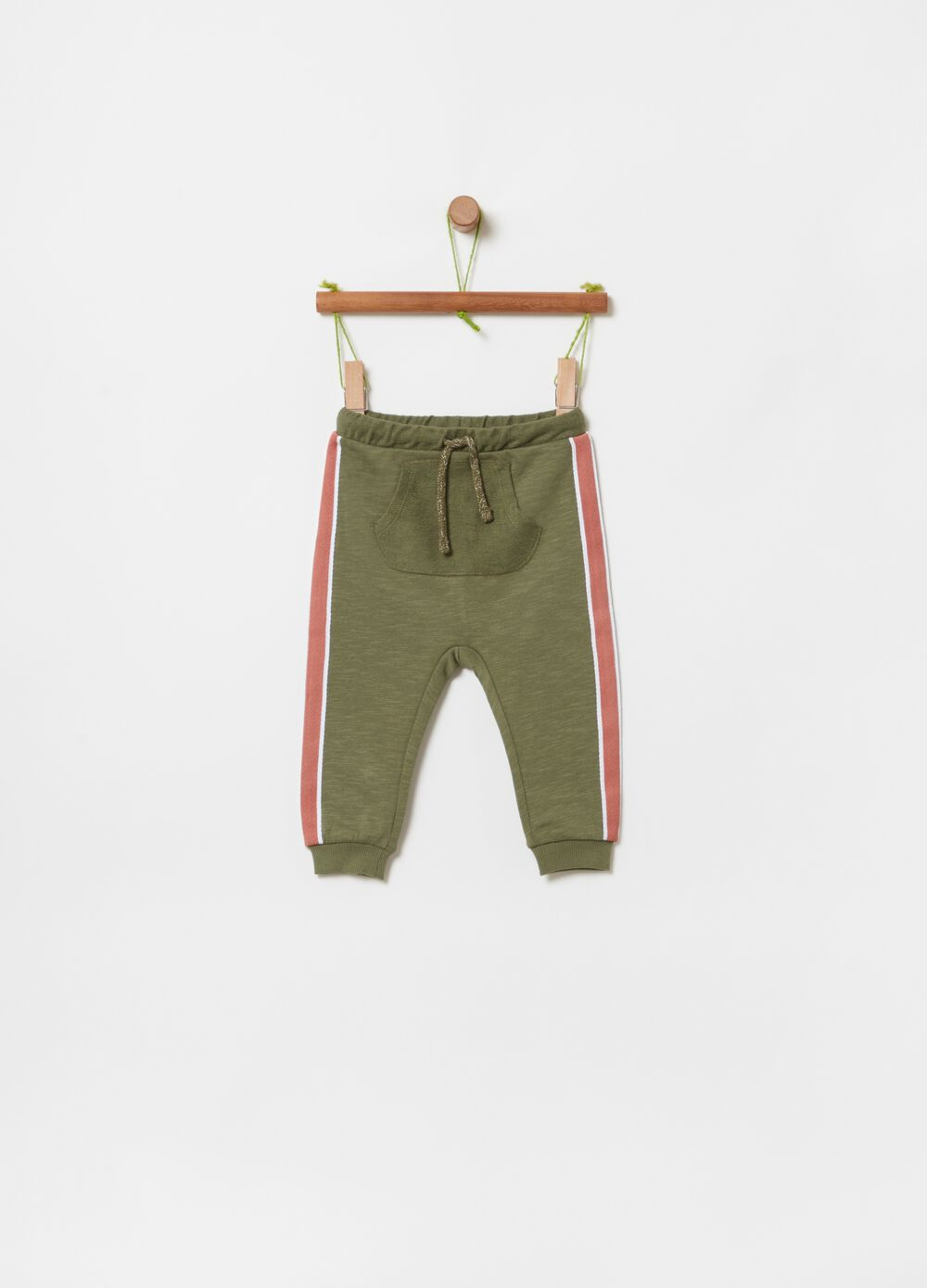 Joggers in 100% organic cotton with insert