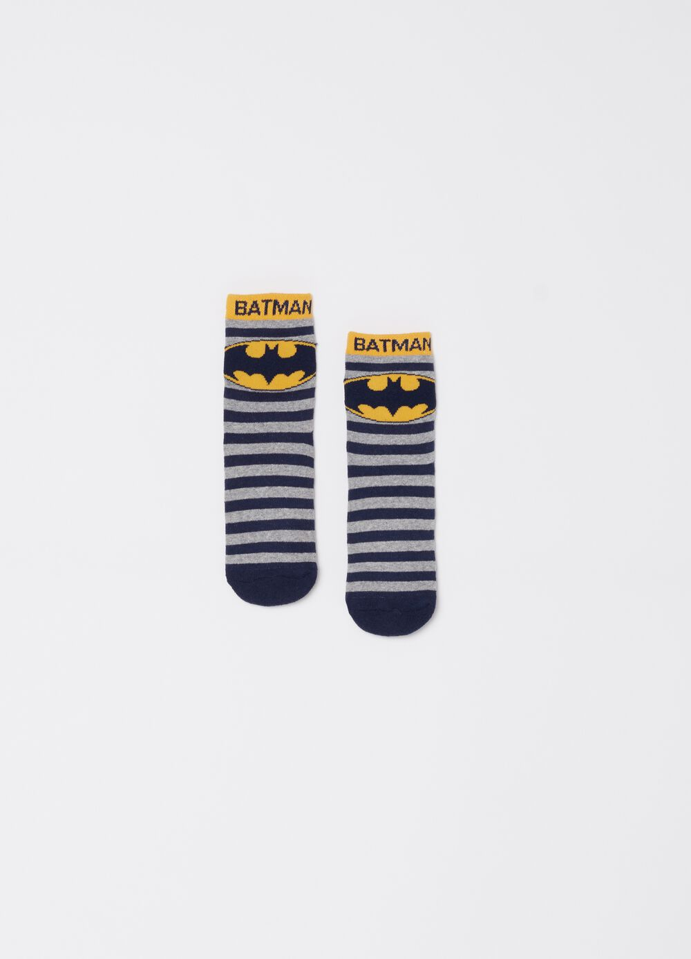 Warner Bros Batman socks with stripes pattern [DC COMICS]