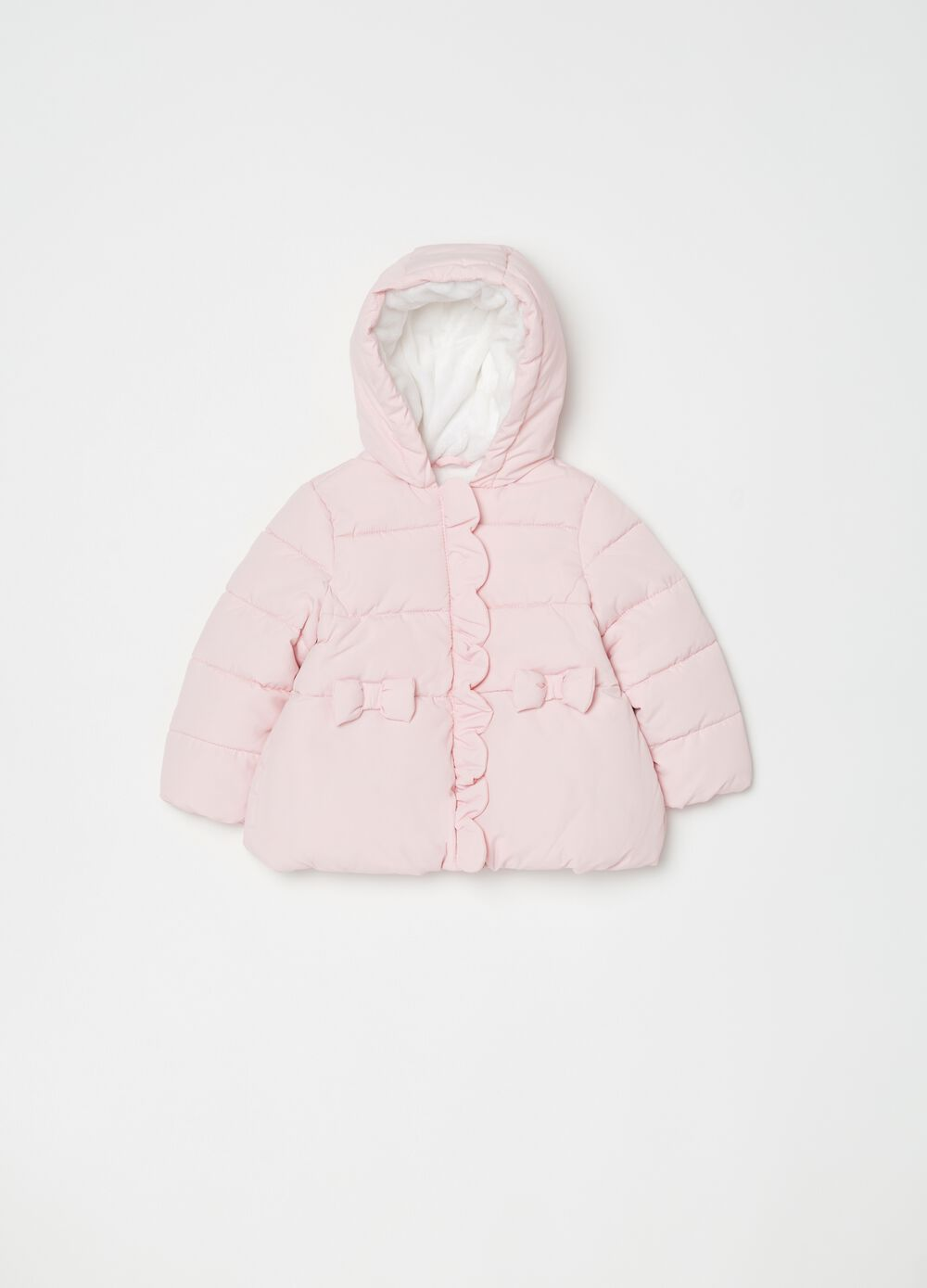 Padded jacket with bows