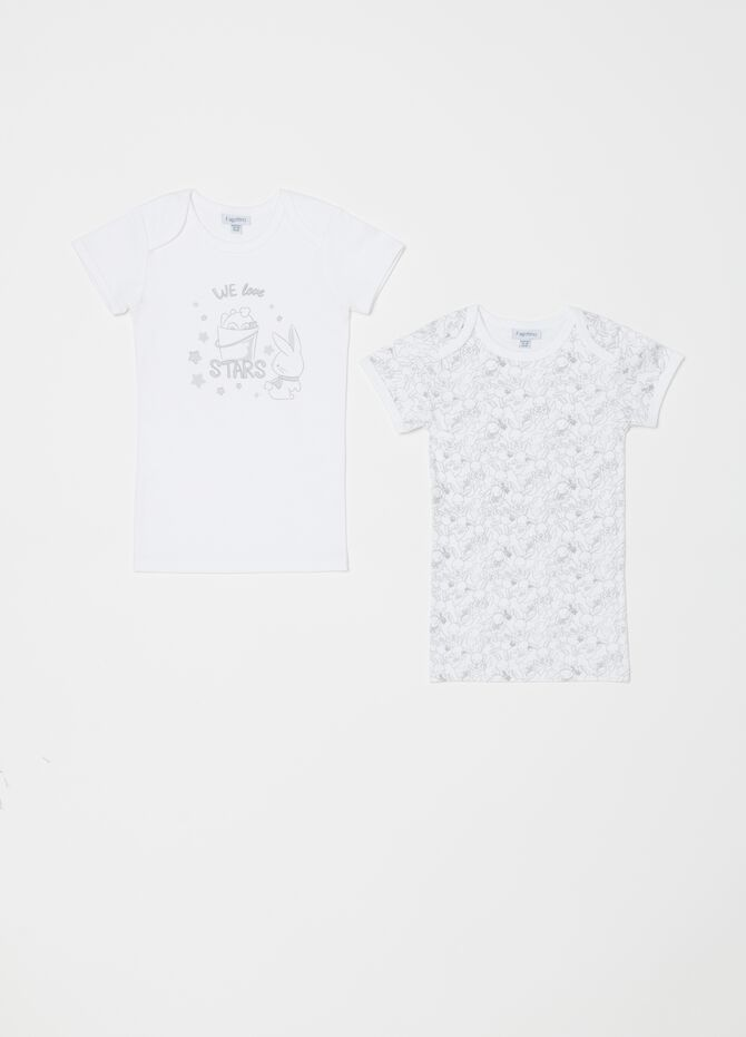 Two-pack undershirts with rabbits