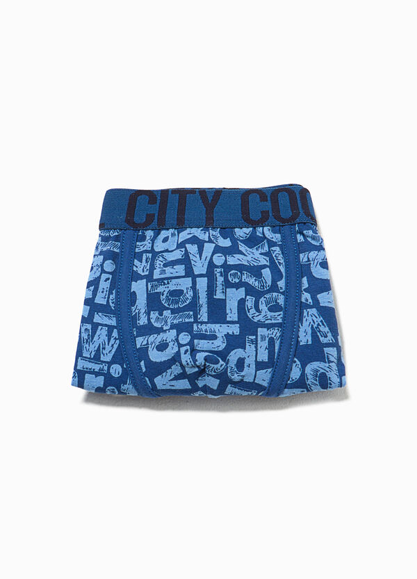Boxer shorts in stretch cotton with lettering pattern | OVS
