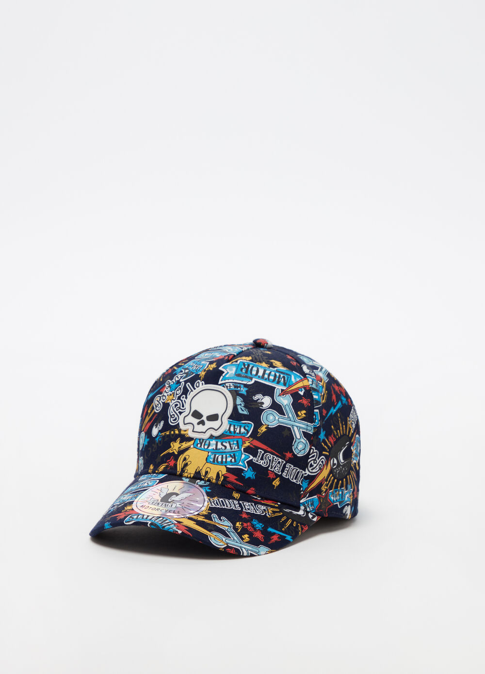 All-over graffiti baseball cap