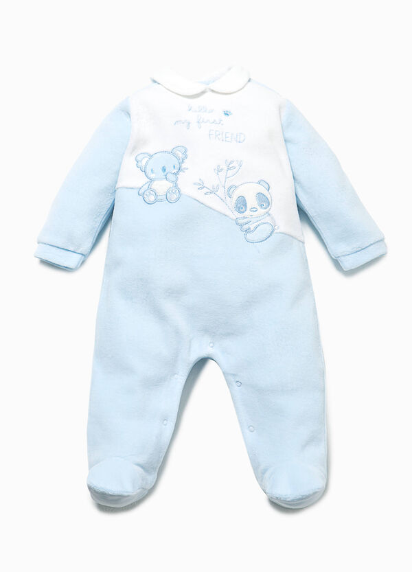 Two-tone onesie with animal patches | OVS