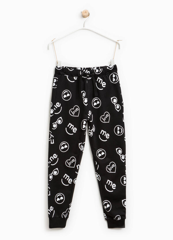 Printed cotton joggers | OVS