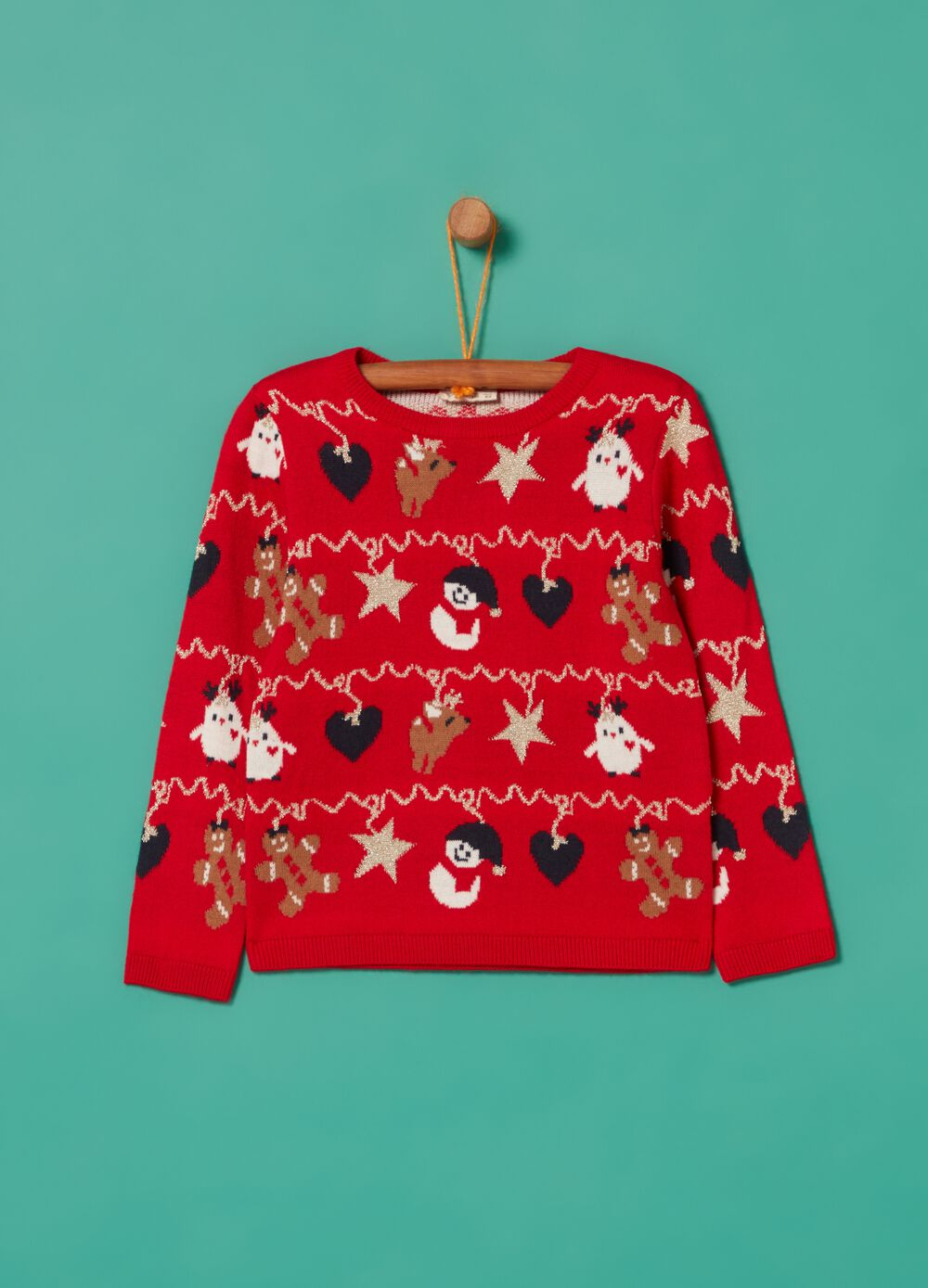 Pullover with Christmas pattern and lurex
