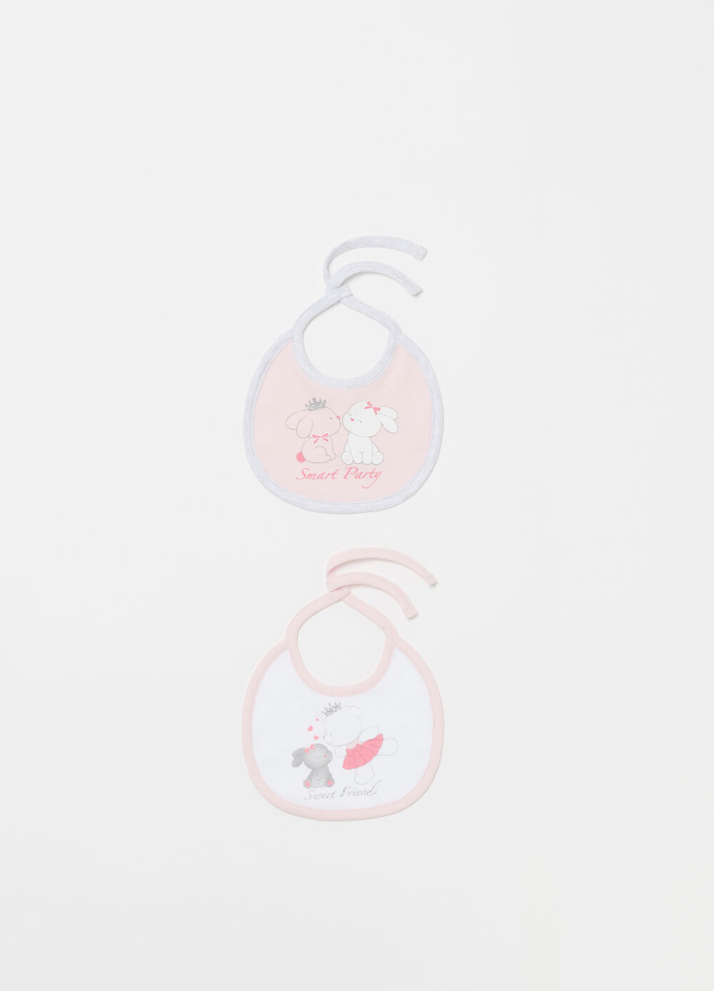 Two-pack printed BCI cotton bibs