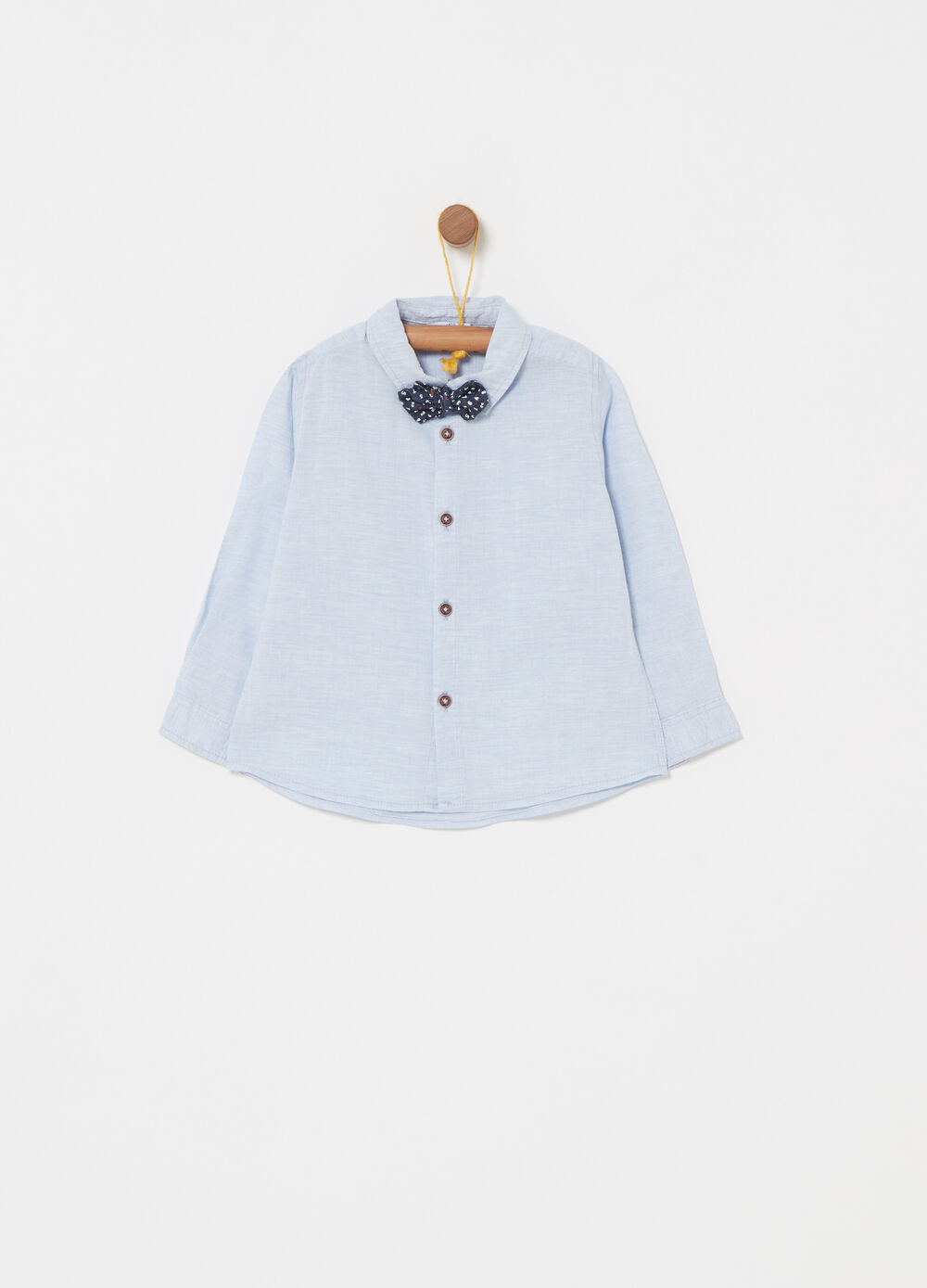 100% cotton shirt with bow