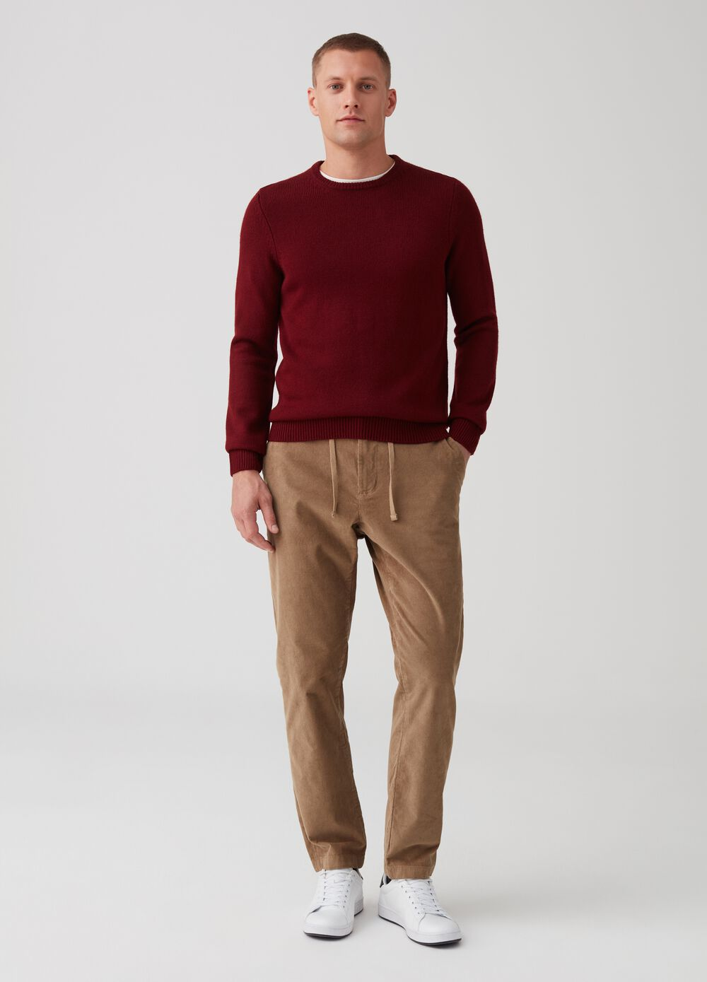 Corduroy trousers with pockets