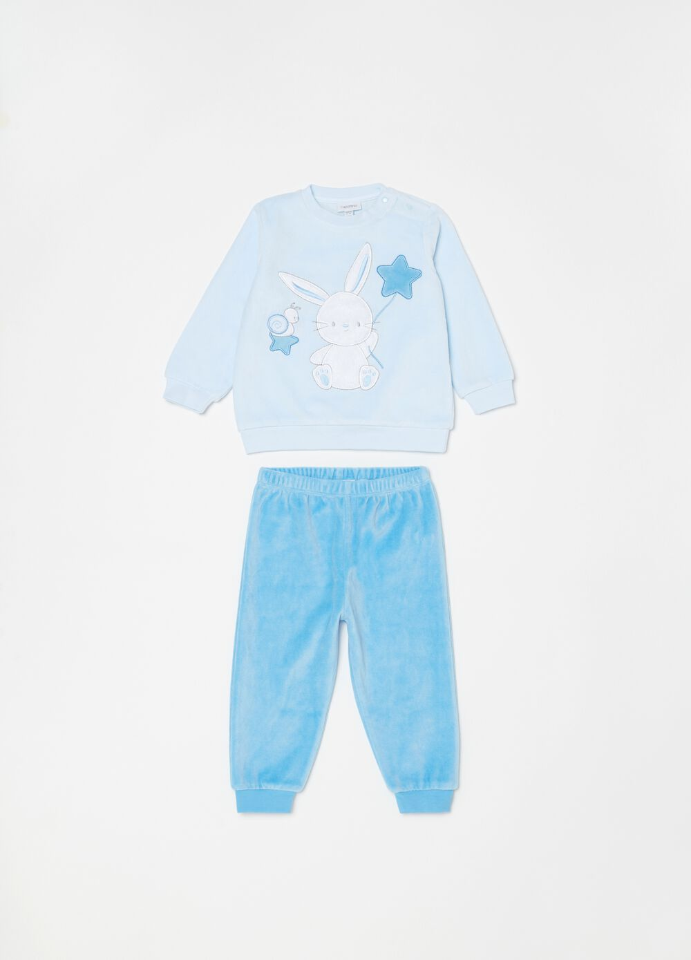 Velour pyjamas with top and trousers