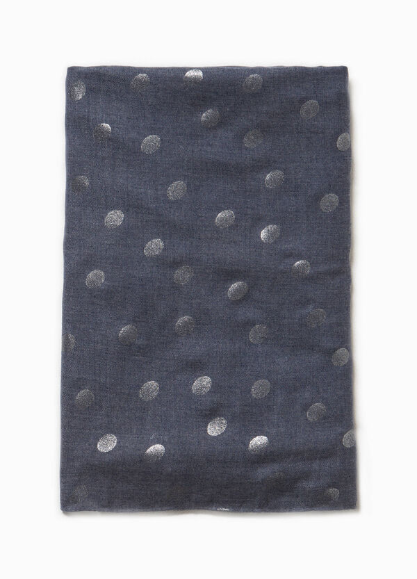 Viscose blend pashmina with shiny polka dots | OVS