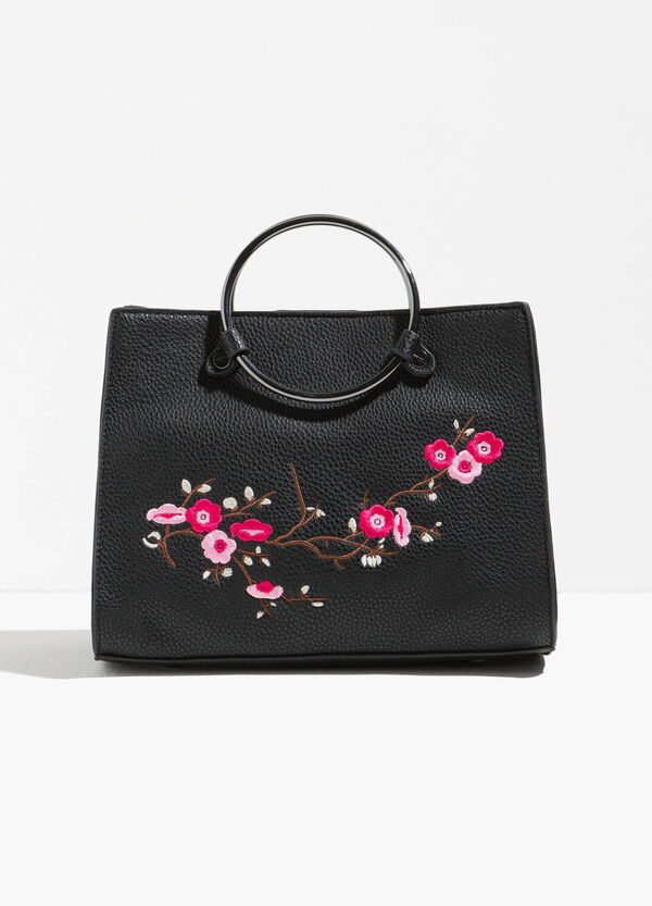 Handbag with floral embroidery | OVS