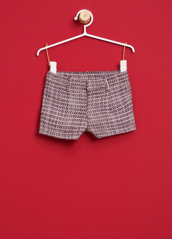Cotton and viscose blend shorts | OVS