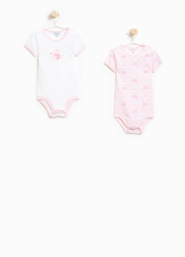 Two-pack patterned bodysuit with animal print | OVS