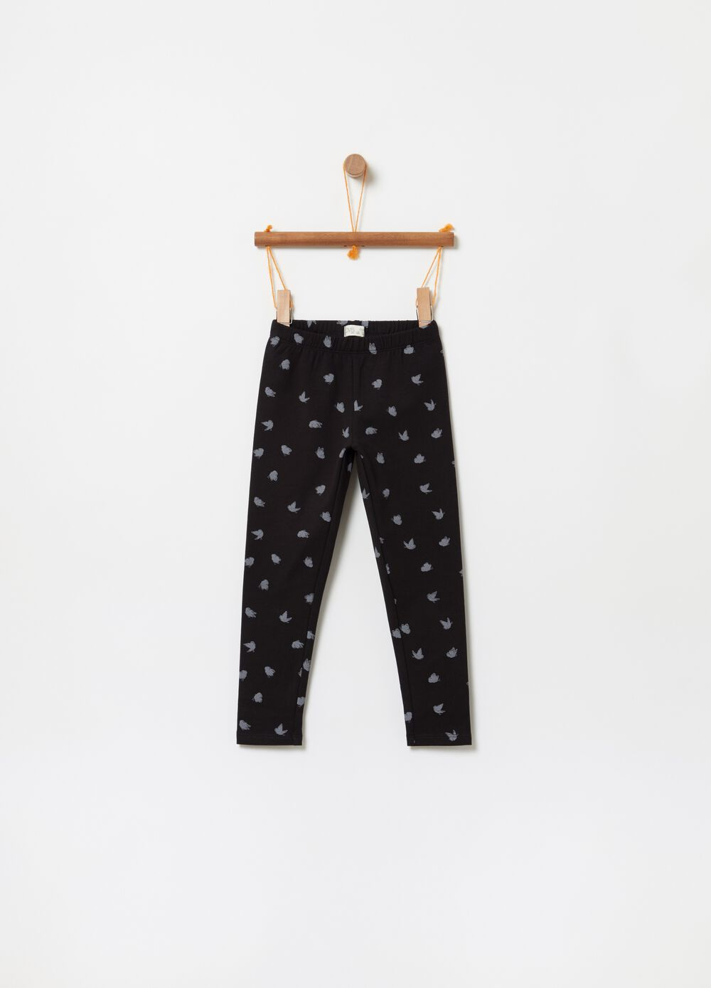 Fleece trousers with butterfly print