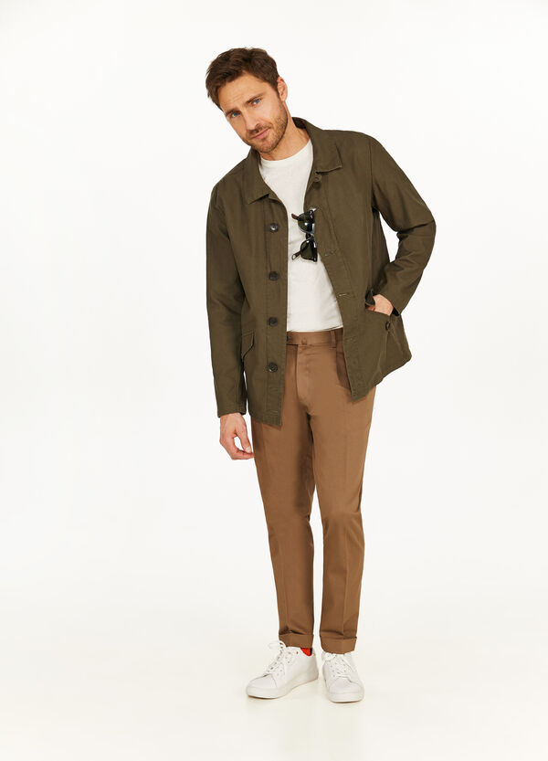 Rumford solid colour cotton jacket
